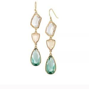 Jewelry - Blue Crystal Chandelier Earrings